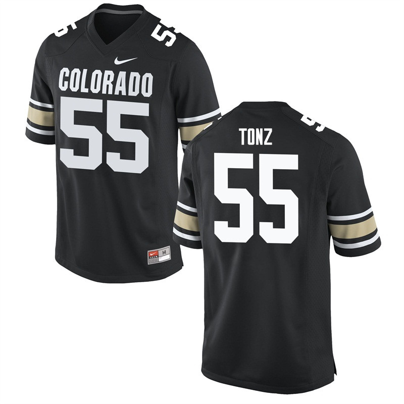 Men #55 Brett Tonz Colorado Buffaloes College Football Jerseys Sale-Home Black