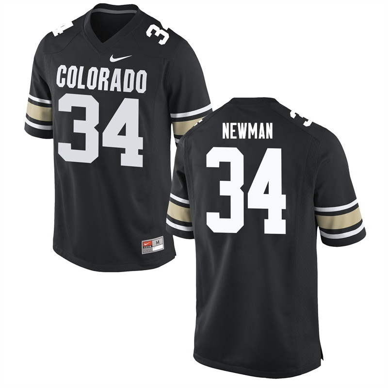 Men #34 Chase Newman Colorado Buffaloes College Football Jerseys Sale-Home Black