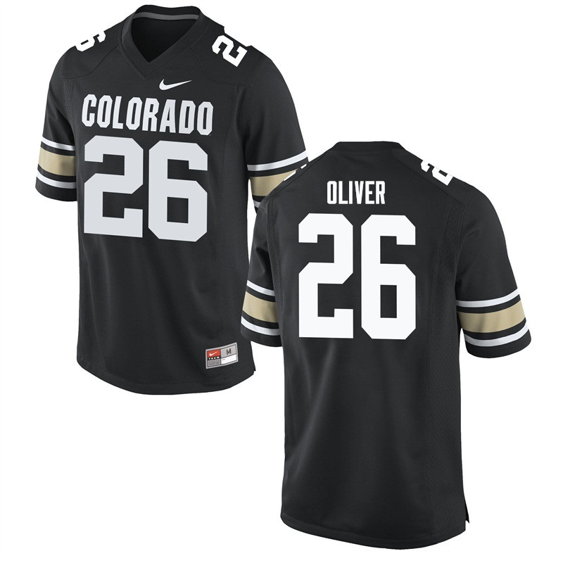 Men #26 Isaiah Oliver Colorado Buffaloes College Football Jerseys Sale-Home Black