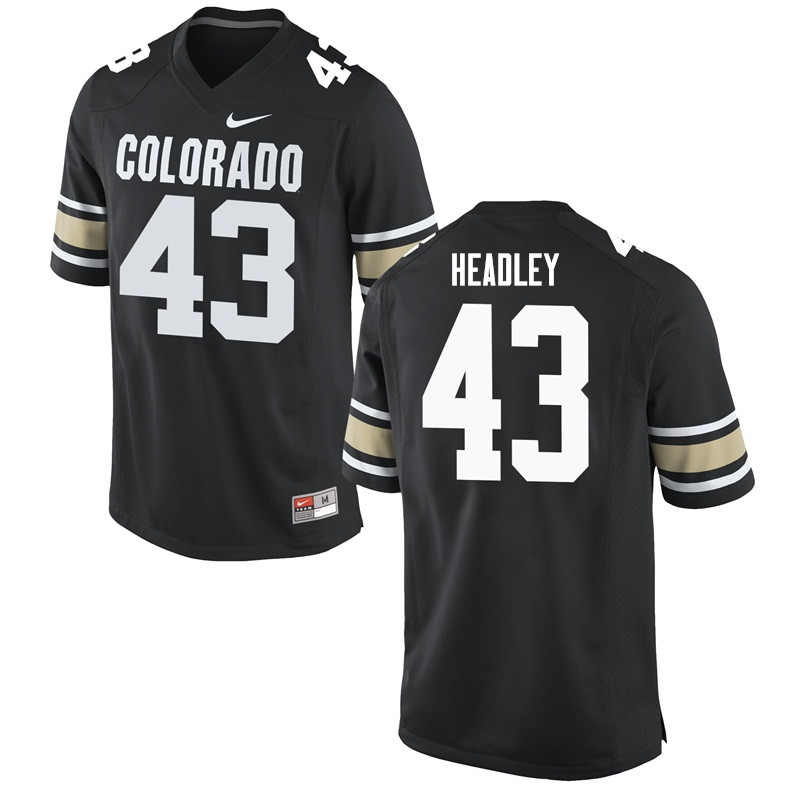Men #43 Trent Headley Colorado Buffaloes College Football Jerseys Sale-Home Black