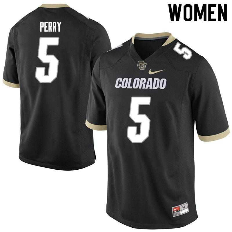 Women #5 Mark Perry Colorado Buffaloes College Football Jerseys Sale-Black