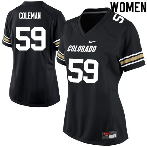 Women #59 Timothy Coleman Colorado Buffaloes College Football Jerseys Sale-Black
