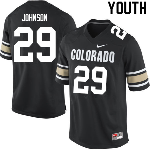 Youth #29 Dustin Johnson Colorado Buffaloes College Football Jerseys Sale-Home Black
