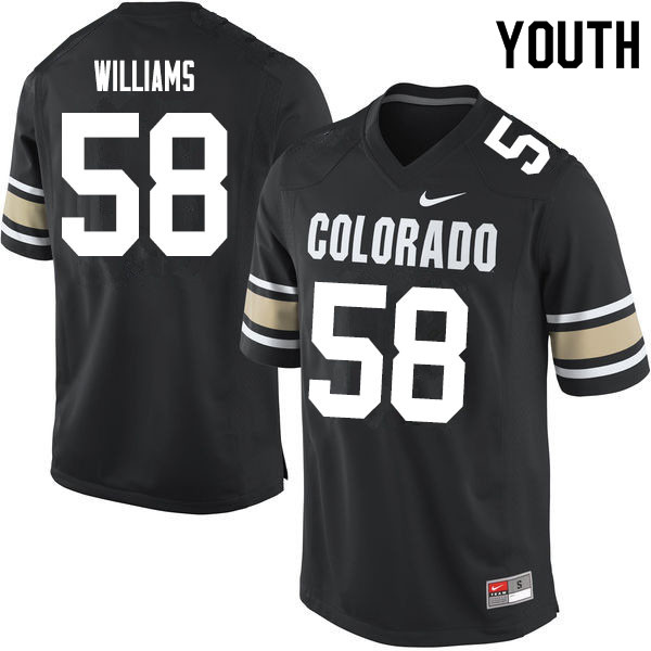 Youth #58 Alvin Williams Colorado Buffaloes College Football Jerseys Sale-Home Black
