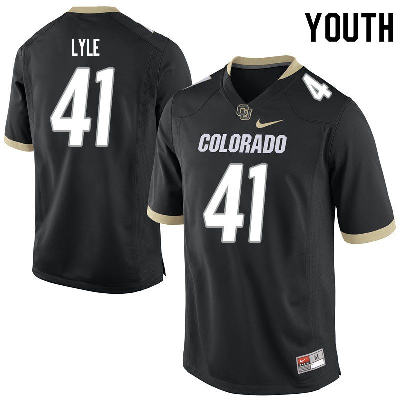 Youth #41 Anthony Lyle Colorado Buffaloes College Football Jerseys Sale-Black
