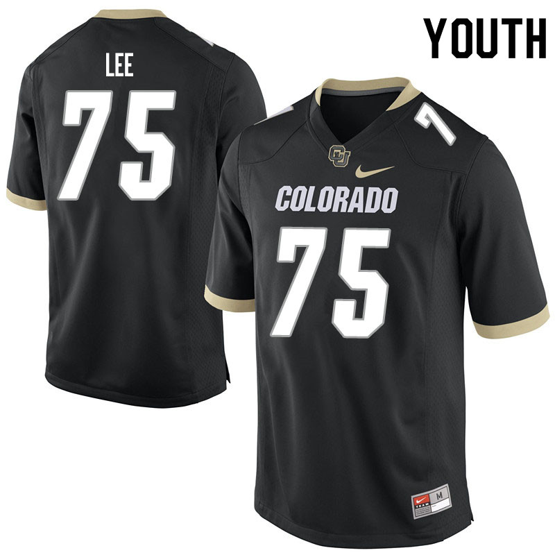 Youth #75 Carson Lee Colorado Buffaloes College Football Jerseys Sale-Black