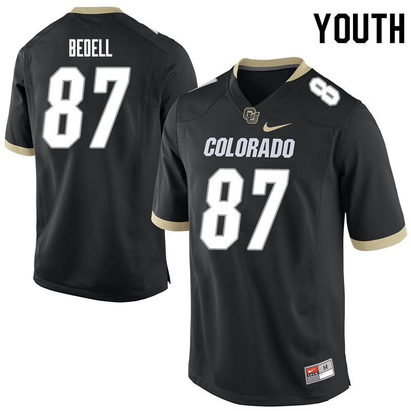 Youth #87 Derek Bedell Colorado Buffaloes College Football Jerseys Sale-Black