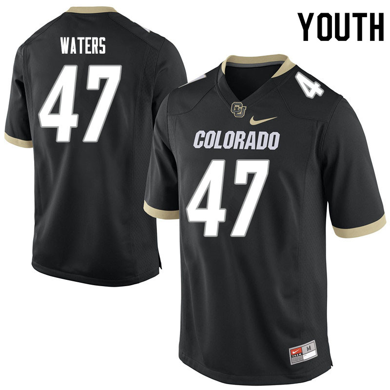 Youth #47 Hayden Waters Colorado Buffaloes College Football Jerseys Sale-Black