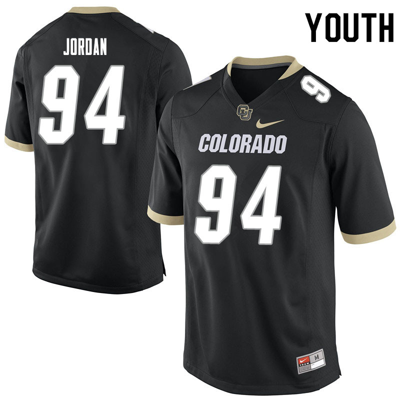 Youth #94 Janaz Jordan Colorado Buffaloes College Football Jerseys Sale-Black