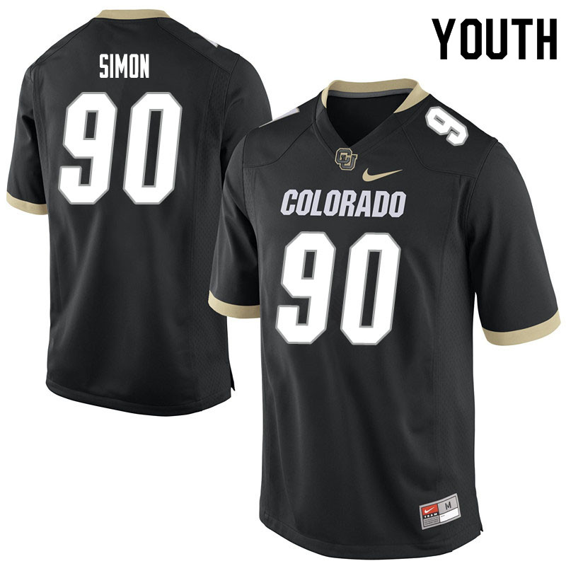 Youth #90 Jayden Simon Colorado Buffaloes College Football Jerseys Sale-Black