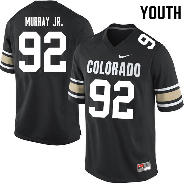 Youth #92 Lloyd Murray Jr. Colorado Buffaloes College Football Jerseys Sale-Home Black