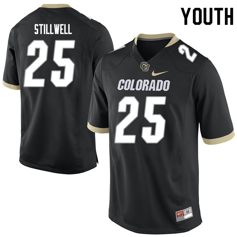 Youth #25 Luke Stillwell Colorado Buffaloes College Football Jerseys Sale-Black